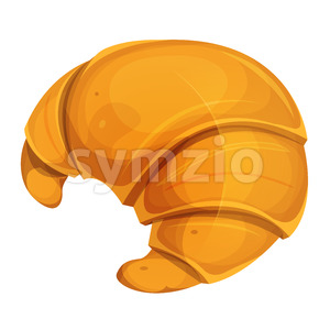 French Croissant Icon Stock Vector