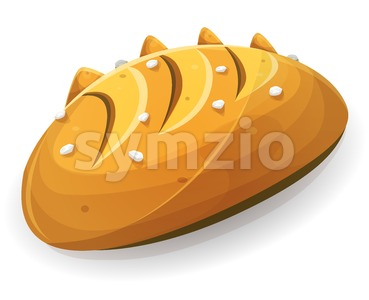 Milk Bread Or Brioche For French Breakfast Stock Vector