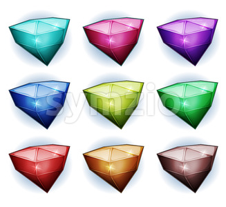 Gemstones Icons Stock Vector
