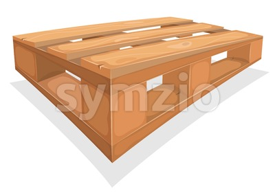 Wooden Palett For Warehouse Stock Vector