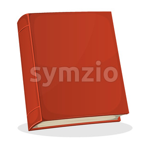 Red Book Cover Isolated On White Stock Vector