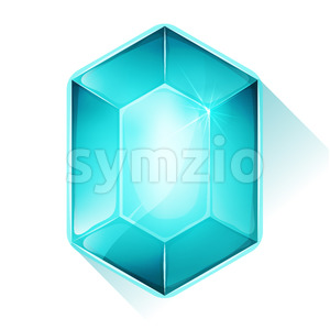 Crystal Gem Icon For Game Ui Stock Vector