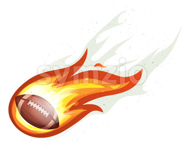 American Football Rocket Ball Burning Stock Vector