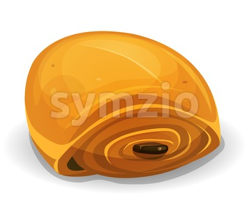 French Chocolate Bread Icon Stock Vector