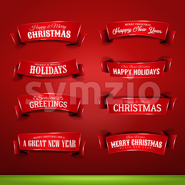 Collection of Christmas And New Year Banners Stock Vector