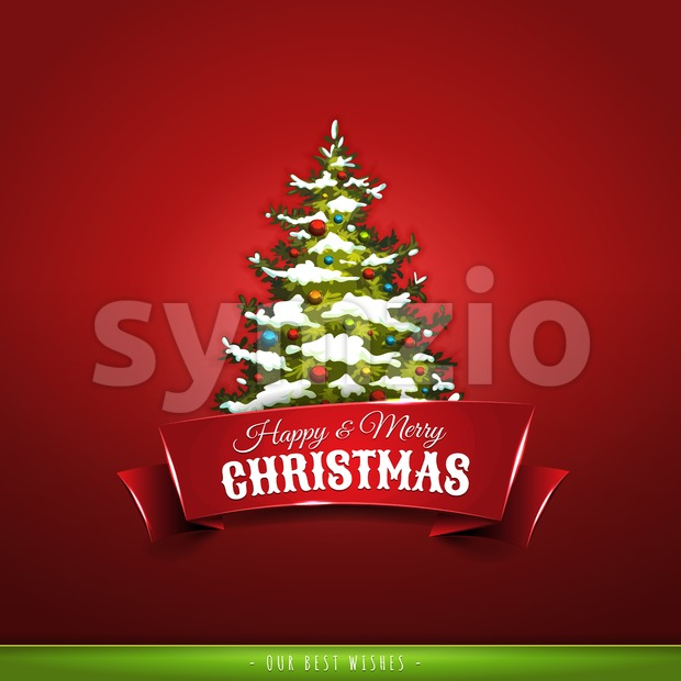 Christmas Greeting Card Stock Vector
