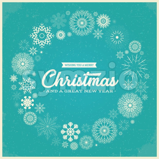 Retro Merry Christmas Greetings Stock Vector