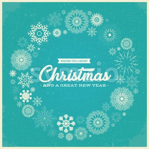 Retro Merry Christmas Greetings Stock Vector