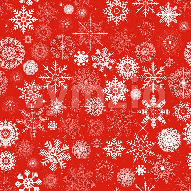 Illustration of a seamless wallpaper background with white winter snowflakes for christmas and new year's eve holidays