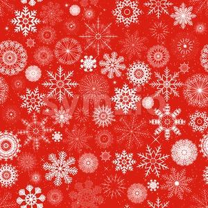 Seamless Christmas Snowflakes Background Stock Vector