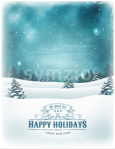 Christmas Holidays And New Year Background Stock Vector