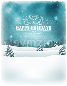 Christmas Holidays Landscape Background Stock Vector