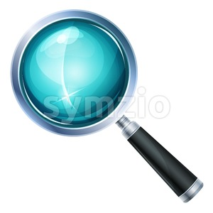 Magnifying Glass Icon Isolated Stock Vector