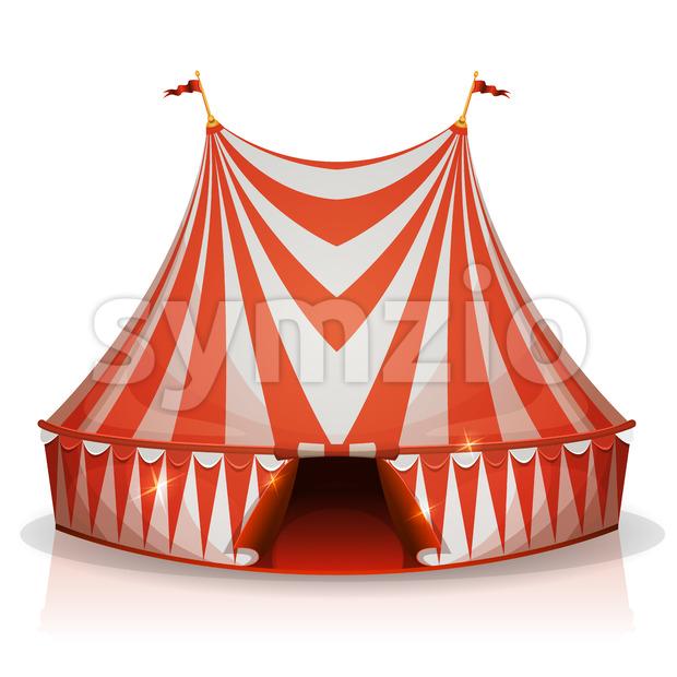 Big Top Circus Tent Stock Vector