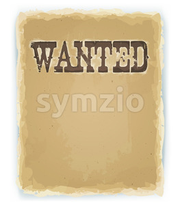 Wanted Poster On Vintage Background Stock Vector