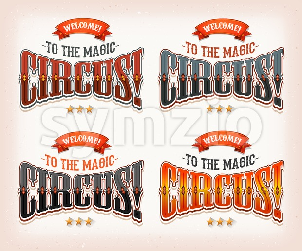 Retro Circus Banners Stock Vector