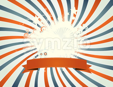 Vintage Fourth Of July Patchwork Stock Vector