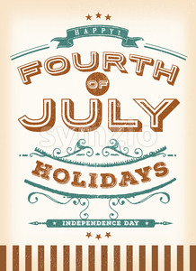 Vintage Fourth Of July Holidays Stock Vector