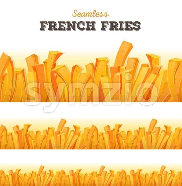 Seamless French Fries Background Stock Vector