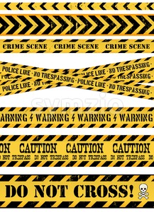 Police Line, Crime Scene And Warning Tapes Stock Vector