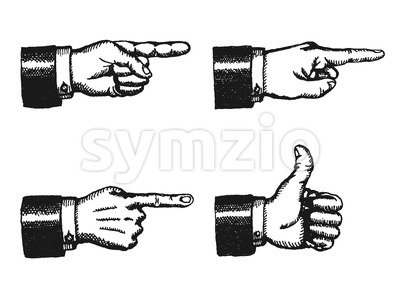 Pointing Finger And Thumbs Up Sign Stock Vector