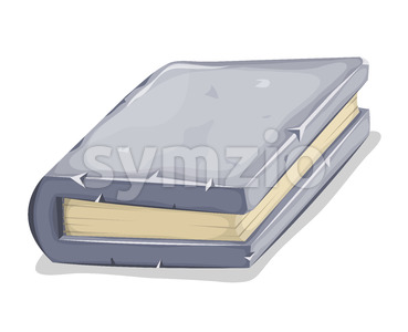Cartoon Stone Book Stock Vector