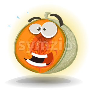 Cartoon Funny Melon Character Stock Vector