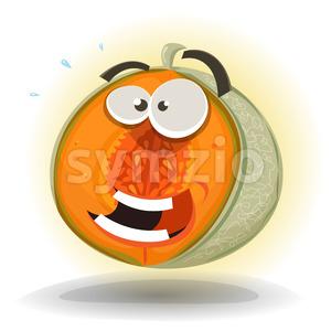 Cartoon Funny Melon Character Stock Vector