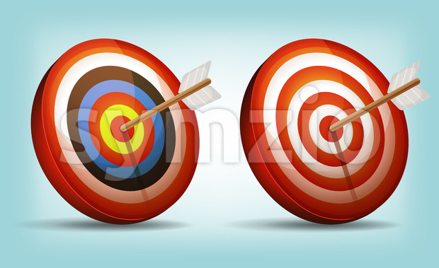 Dart Target With Arrow Stock Vector