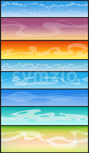 Seamless Cloudscape And Smoke For Ui Game Stock Vector