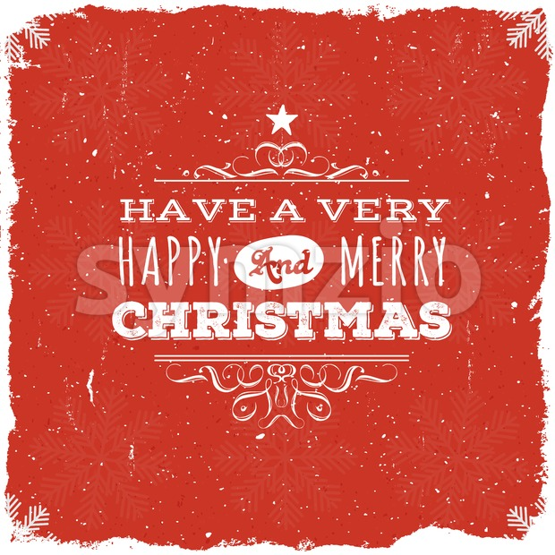 Merry Christmas Postcard Stock Vector