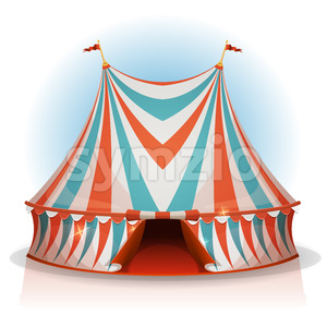 Big Top Circus Tent Stock Vector