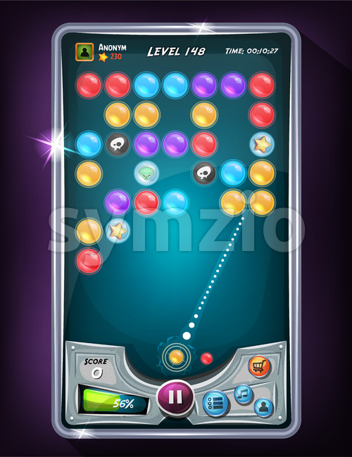 Bubble Game User Interface Stock Vector
