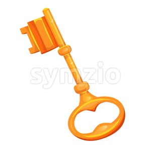 Gold Key Icon Stock Vector