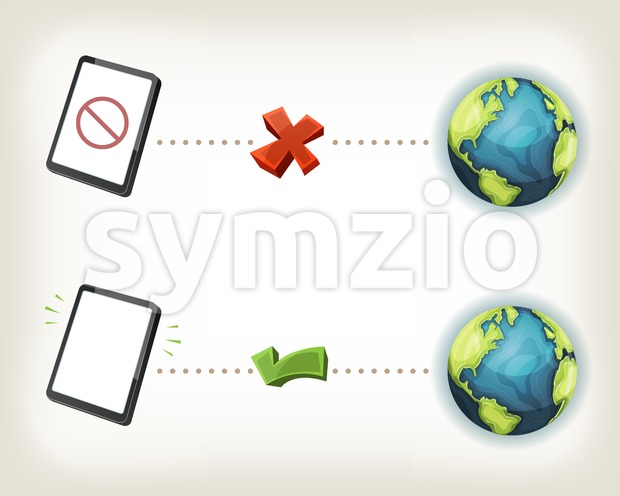 Internet Connexion Icons Stock Vector