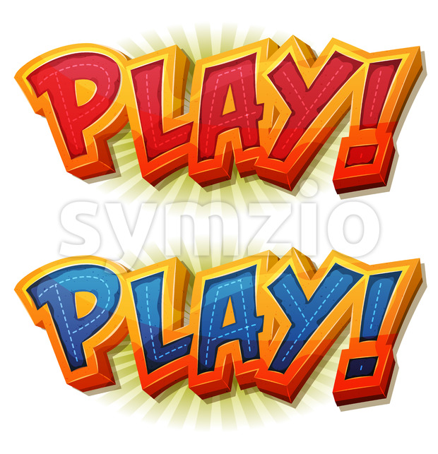 Play Icon For Ui Game Stock Vector