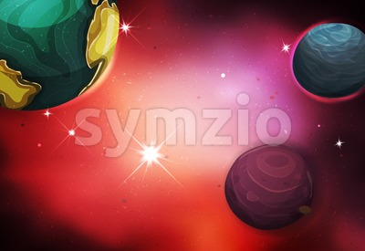 Space Background Stock Vector