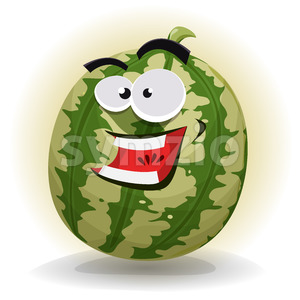 Watermelon Character Stock Vector