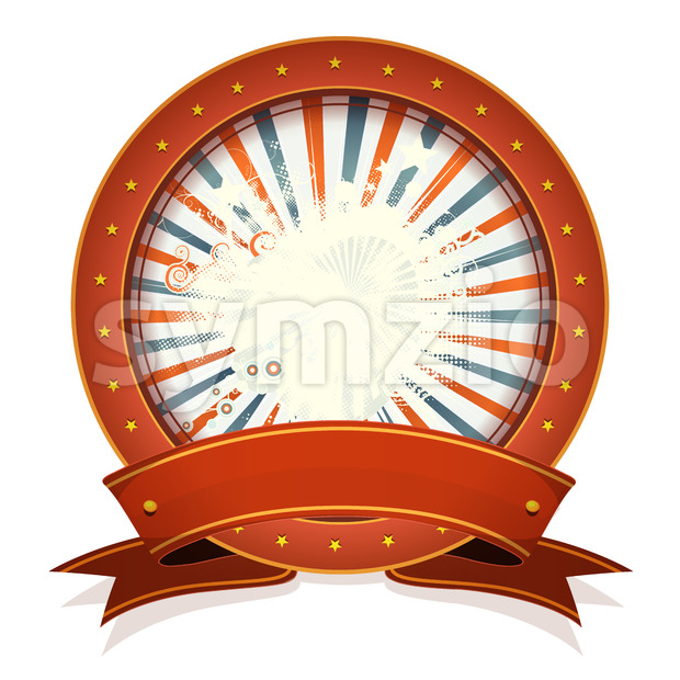 Abstract Fourth Of July Badge With Ribbon Stock Vector