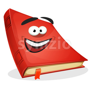 Red Book Character Stock Vector