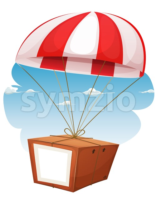 Cardboard Shipping Via Airmail Stock Vector
