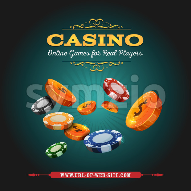 Casino And Gambling Background Stock Vector