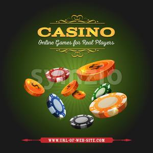 Casino Online Background Stock Vector