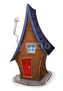 Comic House For Fairy Tales Stock Vector