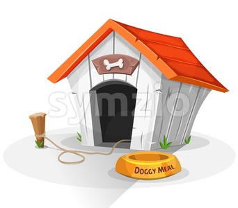 Dog House Stock Vector