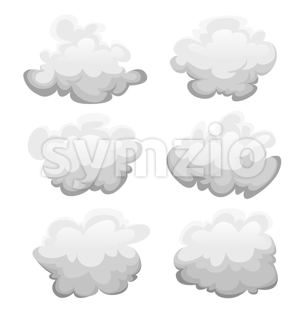 Clouds Set Stock Vector