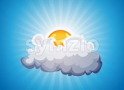 Sky Background With Sunshine And Cloud Stock Vector