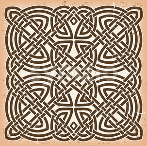Vintage Grunge Celtic Mandala Background Stock Photo