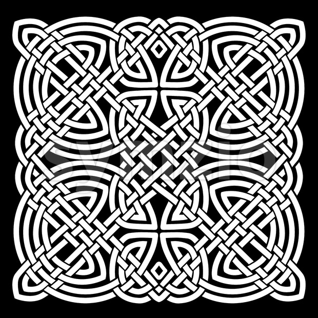 White And Black Celtic Mandala Background Stock Vector