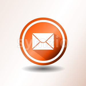 Email Icon In Flat Design Stock Vector